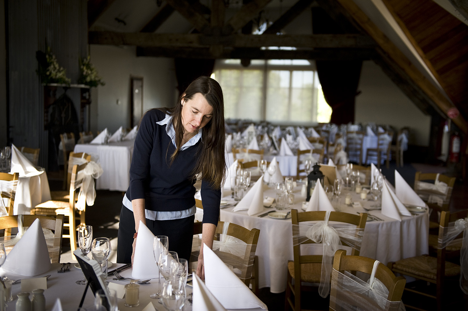 Rachel Fletcher Events Manager ensuring all is perfect for another wedding at her winery