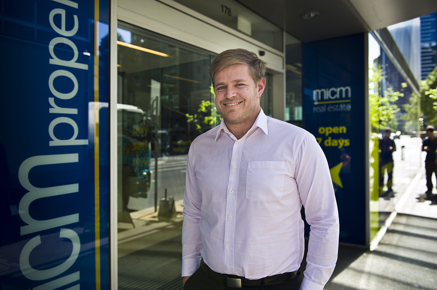 Scott Lambert Owner's Corporations Manager outside his office in Melbourne