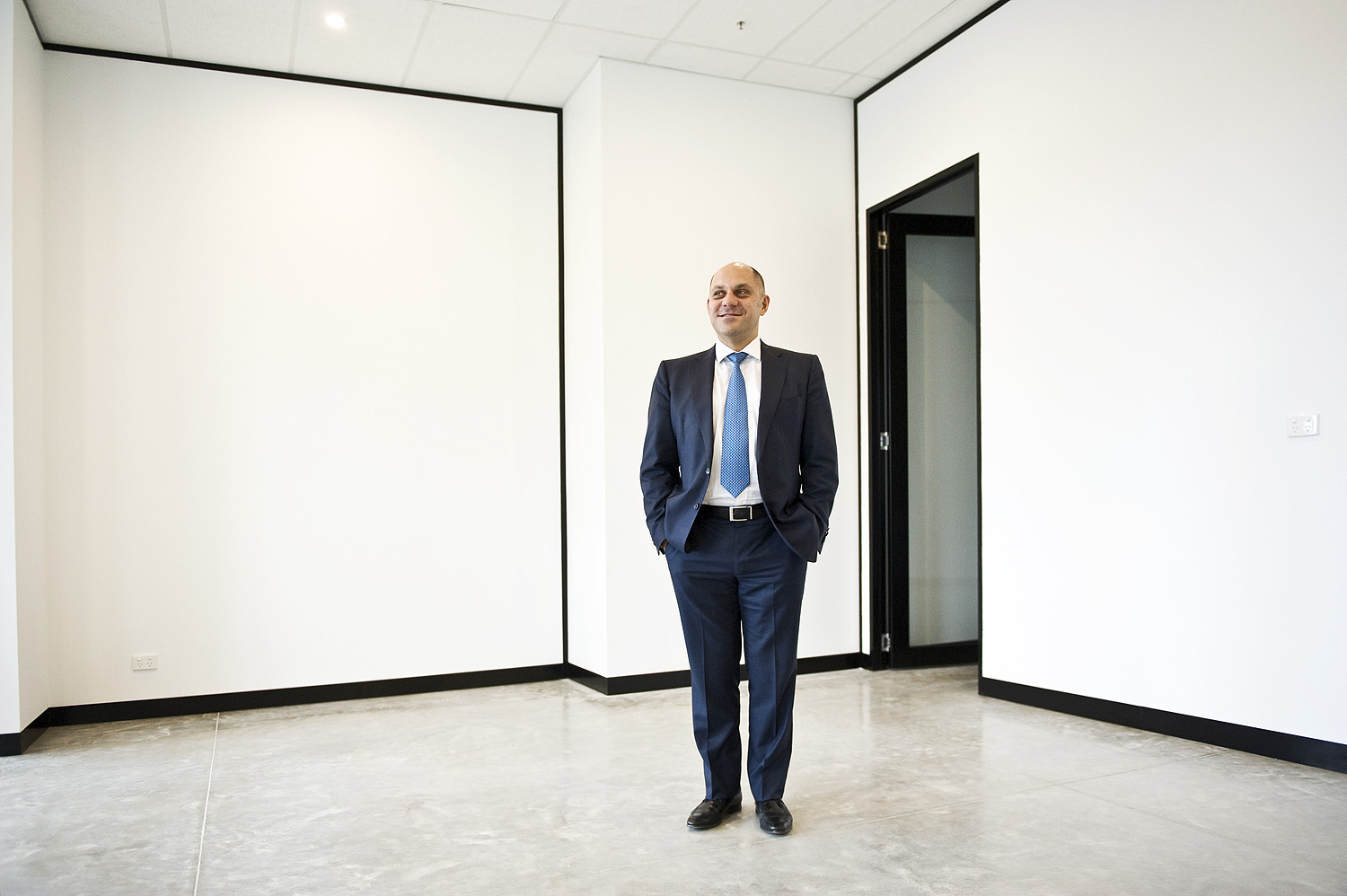 Adrian Butera director of Compton Green real estate in the company's new office space in footscray