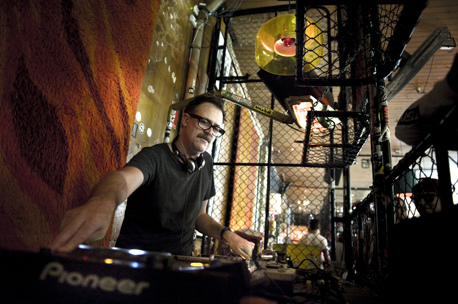 Pat Donlon aka Spacey Space during his Sunday morning set at Revolver2
