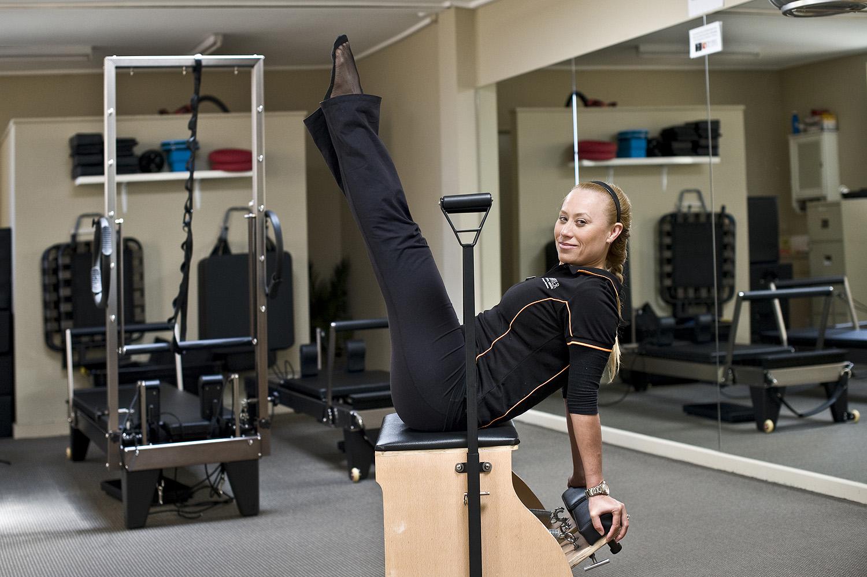 Pilates instructor Venus Brutnall maintains her own regular pilates practice