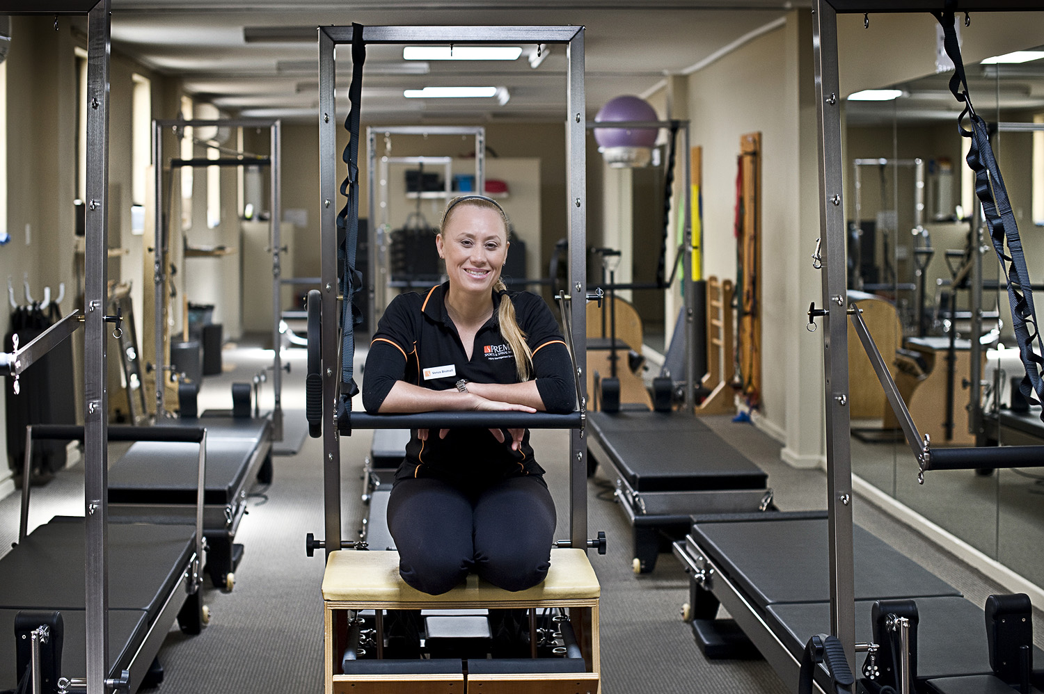 Venus Brutnall in one of the Premier Pilates studios she manages
